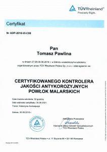 Pawlina T- certyfikat kontrolera jakości PL,DE,ENG-1