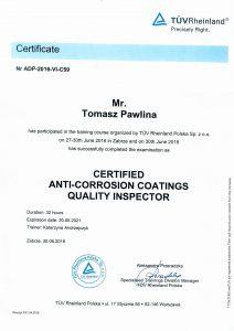 Pawlina T- certyfikat kontrolera jakości PL,DE,ENG-3