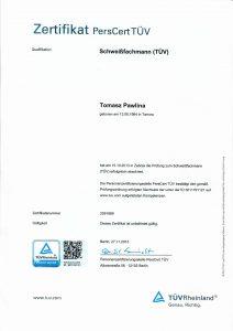 Pawlina T-certyfikat specja