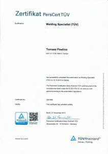 Pawlina T-certyfikat specjal